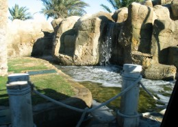 El Gouna Entrance Waterfalls